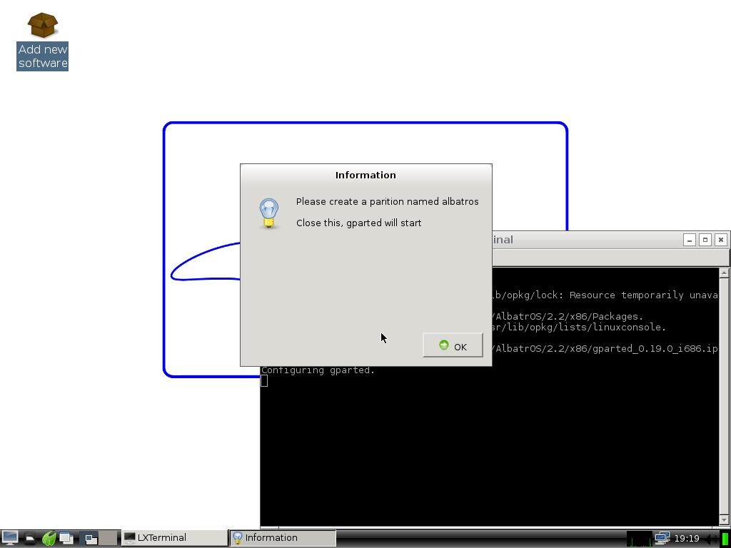 install albatros_installing_gparded